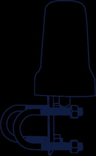 Iridium Beam Mast/Pole Antenna - Beam